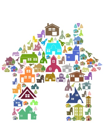 colorful home symbol for design Stock Vector - 11267555
