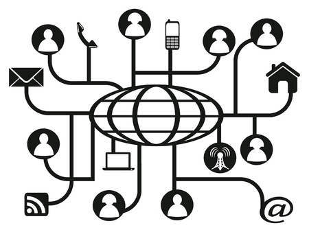 rss sign: the background of global social network