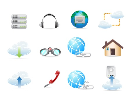 Web Network Icon Set. Vector illustration Stock Vector - 11267559