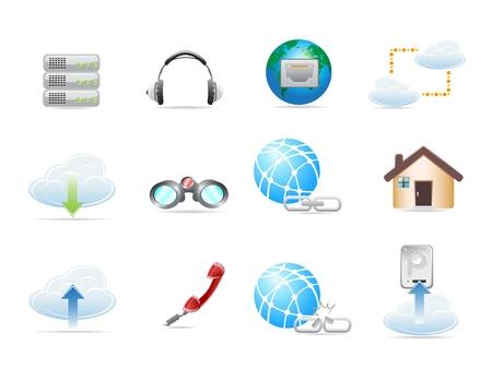 Web Network Icon Set. Vector illustration  Vector