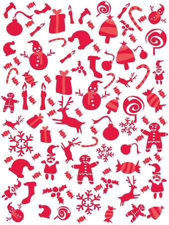 red christmas seamless pattern for christmas coming Vector