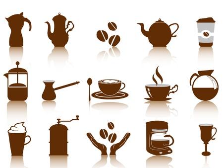 koffie icon set