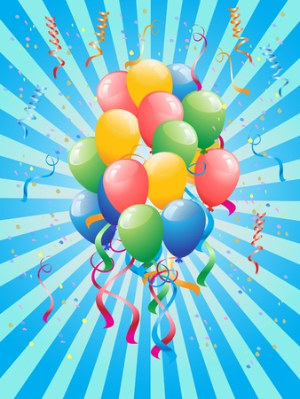 the background of party balloons Stock Vector - 11267568