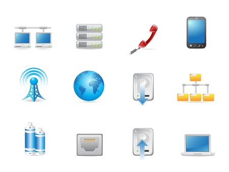 universal connected icon set Vector