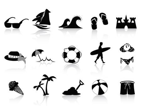 aro salvavidas: Conjunto de 15 iconos de Black Beach