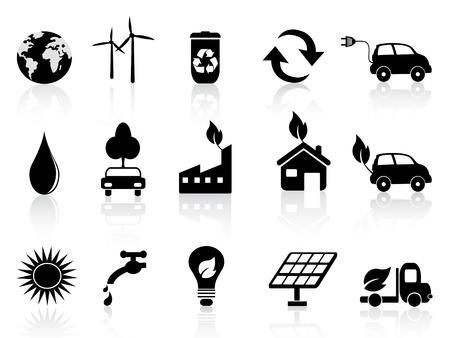 Eco und Umwelt Icons in schwarz