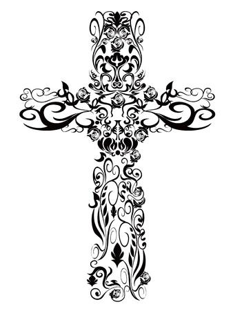 tombes: Croix pattern de d�coration pour la conception Illustration