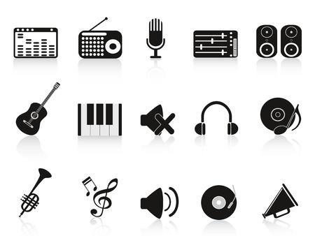 radio button: isolato musica apparecchiature audio icona su sfondo bianco Vettoriali