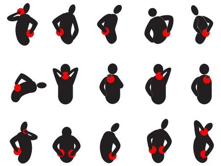 bol: zestaw ludzkiego bólu z jego kropką bólu