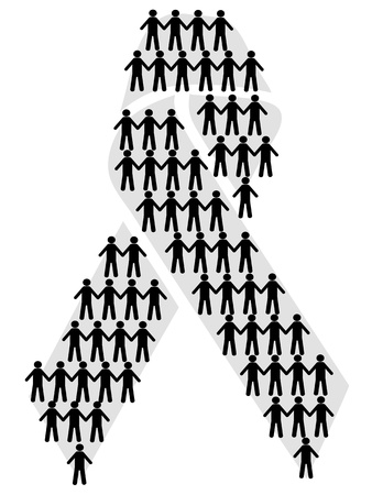 the aids symbol filled with symbol people Stock Vector - 11785318