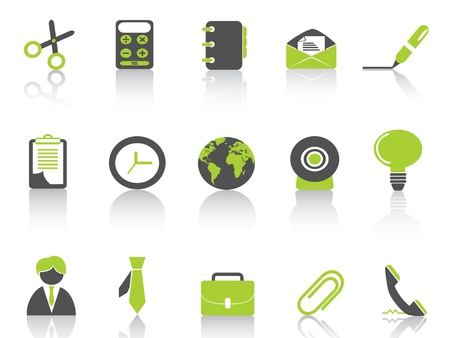 office icon green series Vector
