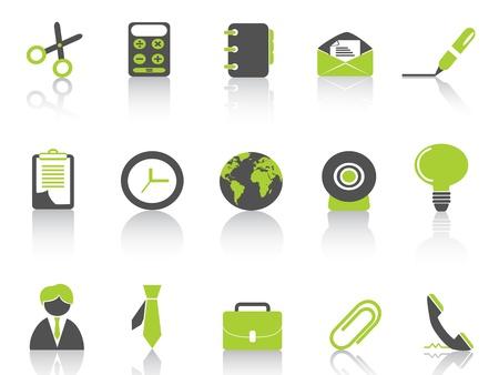 green light bulb: office icon green series Illustration