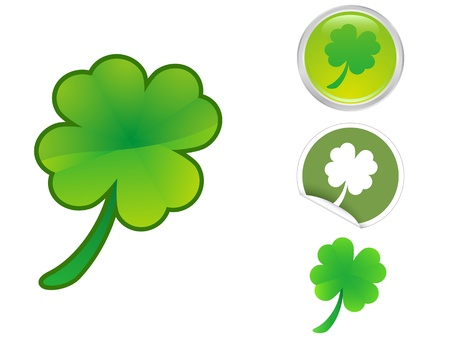 Four Leaf Clover icon for saint patrick Stock Vector - 12496217