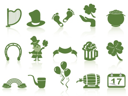 green st patrick Vector