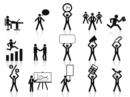 isolated business people icons on white background Vector