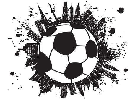 the background of grungy football city Vector