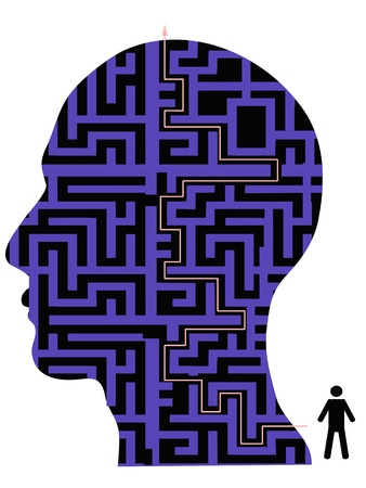 mental health problems: the background of human head maze