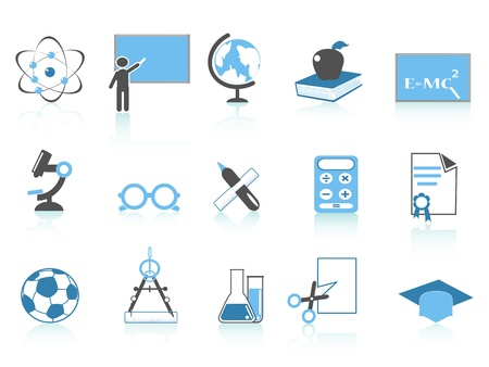 isolated simple education icon,blue color series from white background Vector
