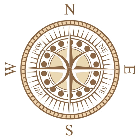 a special design of compass rose Vector