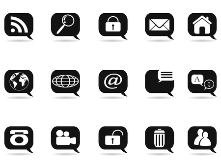 speech bubble with internet icons for internet design Vector