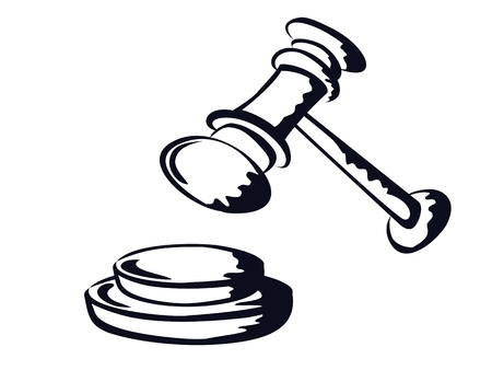 the doodle sketchy drawing of judge gavel  Stock Vector - 13763463
