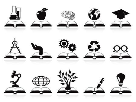 reading glass: libros aislados iconos concepto de conjunto de fondo blanco