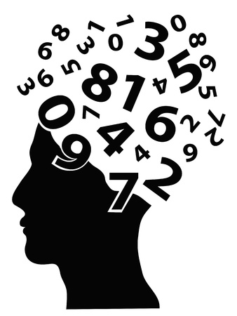 numbers coming from the human head Stock Vector - 14029929