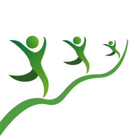 le symbole de la croissance carrière dans les affaires