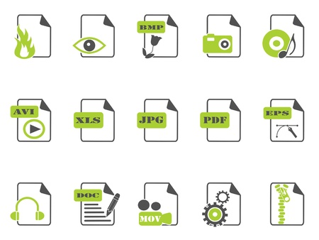 isolated files icon set with green color on white background Vector