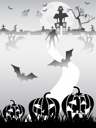 the halloween background for halloween design Vector