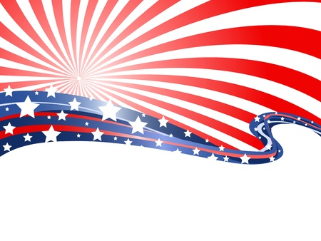 the abstract background of patriotic theme  Illustration