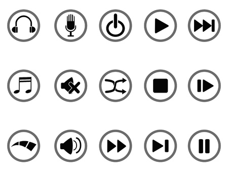 pause button: isolated media buttons icon on white background Illustration