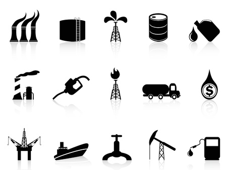 isolated oil industry icon from white background Stock Vector - 15691199