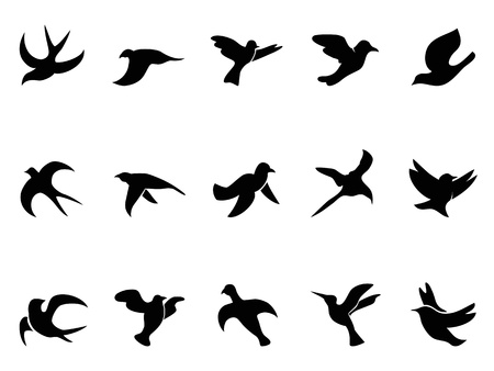 isolated simple bird Vector