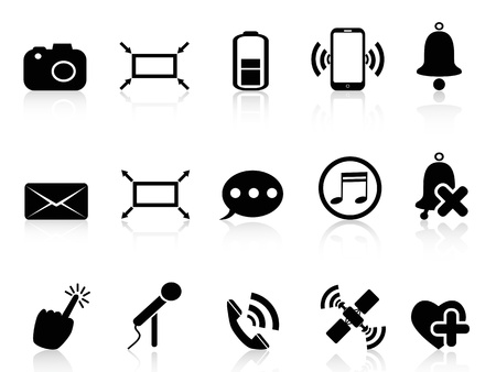 isolated simple smartphone icons set from white background Vector