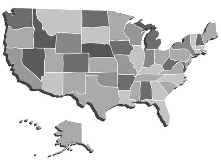 USA Map Gold Royalty Free Cliparts Vectors And Stock