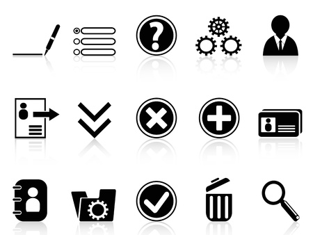 the collection of Black internet Account Settings icon in white background