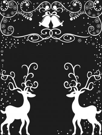 lineas verticales: el fondo de reno con decoraci�n floral para la Navidad