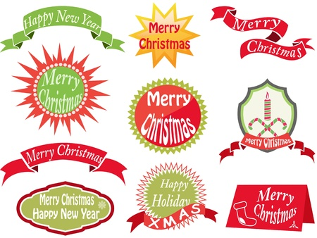 christmas vintage labels and card for christmas holiday Stock Vector - 16822035