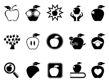 isolated apple icons set from white background Vector