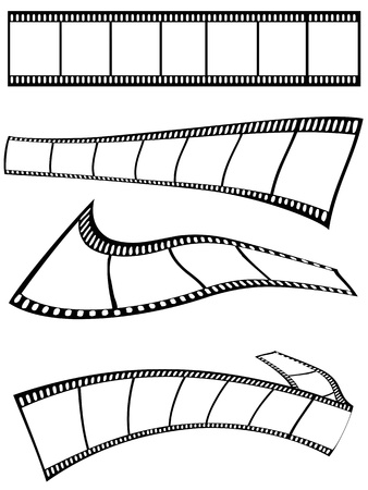photography themes: isolated film strips design on white background