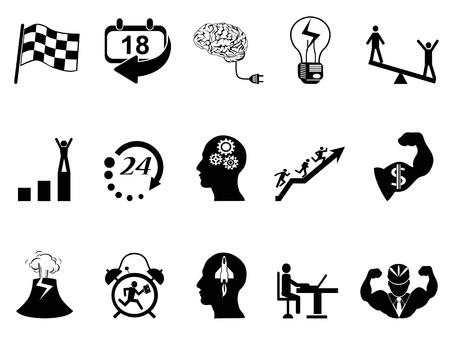 isolado Produtivo em ícones de trabalho de fundo branco