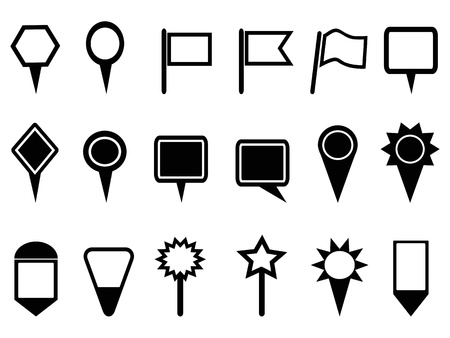 global positioning system: isolated map pointer and Navigation icons  on white background Illustration