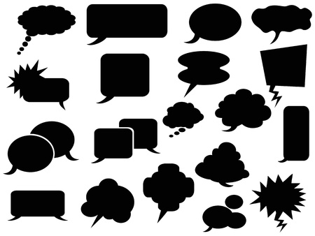 oblong: the background of black speech bubbles Illustration