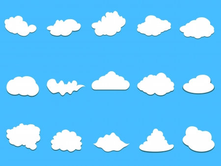 white clouds on blue background Vector