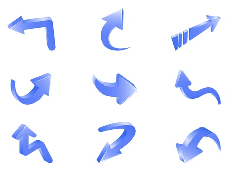 isolated 3d arrows on white background   Vector