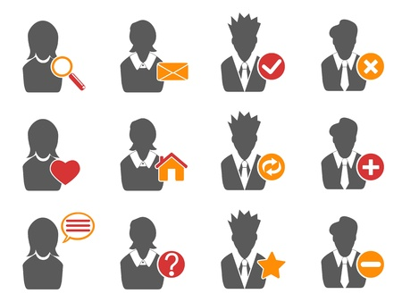 isolated user icons set from white background Vector