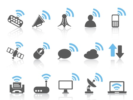 isolated wireless communications icon,blue series from white background Stock Vector - 20929639