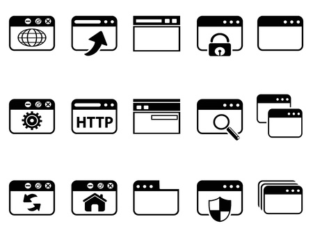 isolated browser icon set on white background Stock Vector - 21122507