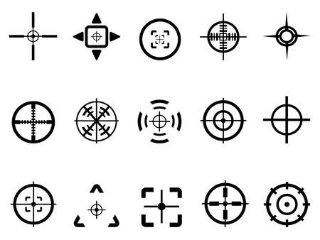 doelstelling: geïsoleerde crosshair icoon van witte achtergrond Stock Illustratie